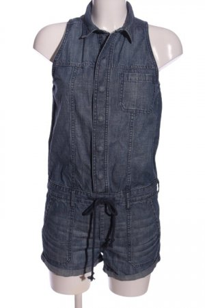 Abercrombie & Fitch Overall blauw gestippeld casual uitstraling