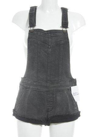 Abercrombie & Fitch Salopette en jeans gris anthracite Aspect de jeans