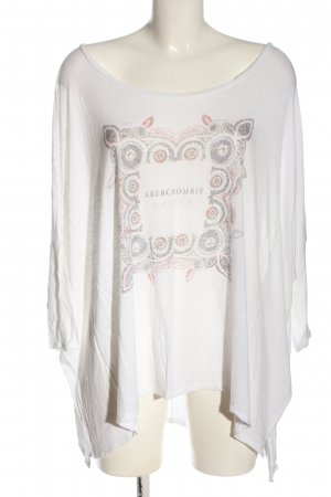 Abercrombie & Fitch Lang shirt wit prints met een thema casual uitstraling