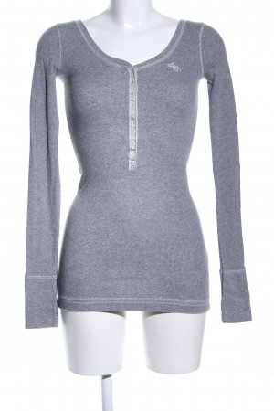 Abercrombie & Fitch Long Shirt light grey flecked casual look