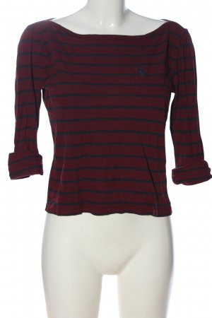 Abercrombie & Fitch Longsleeve red-black striped pattern casual look