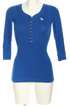 Abercrombie & Fitch Longsleeve blau-weiß Casual-Look