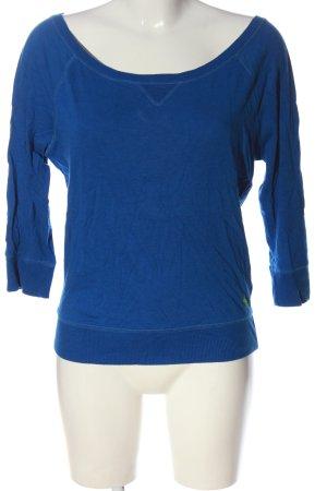 Abercrombie & Fitch Koszulka z długim rękawem niebieski W stylu casual