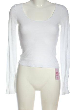 Abercrombie & Fitch Top à manches longues blanc style décontracté
