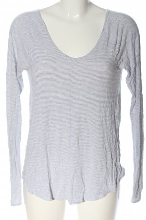 Abercrombie & Fitch Longsleeve white-light grey allover print casual look