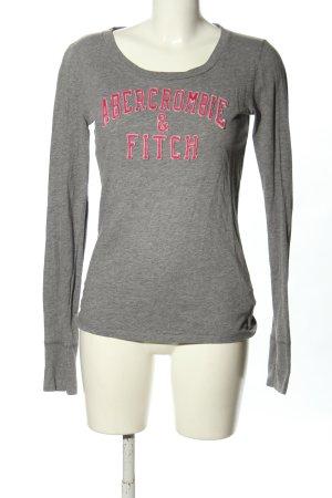 Abercrombie & Fitch Longsleeve hellgrau-pink meliert Casual-Look