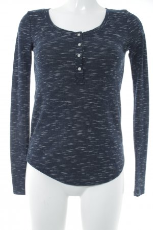 Abercrombie & Fitch Longesleeve donkerblauw-wit gestippeld simpele stijl