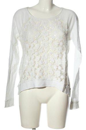 Abercrombie & Fitch Koszulka z długim rękawem biały W stylu casual