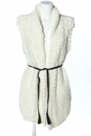 Abercrombie & Fitch Długa dzianinowa kamizelka biały W stylu biznesowym