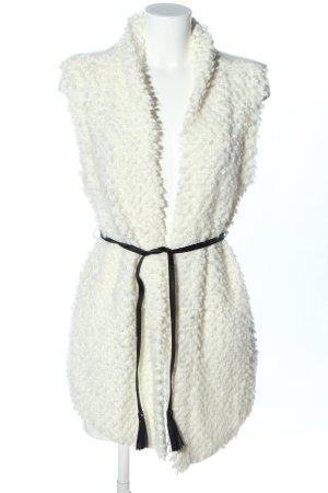 Abercrombie & Fitch Lang gebreid vest wit zakelijke stijl