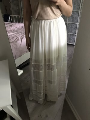 Abercrombie & Fitch Maxi Skirt natural white