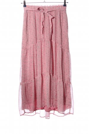 Abercrombie & Fitch Maxirock pink-lila Allover-Druck Elegant