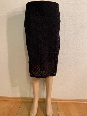 Abercrombie & Fitch Falda de encaje negro