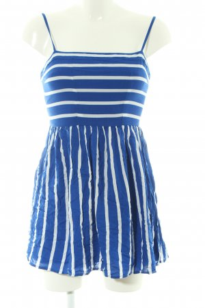 Abercrombie & Fitch Minikleid blau-weiß Streifenmuster Casual-Look