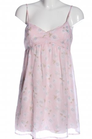Abercrombie & Fitch Minikleid pink-weiß Allover-Druck Casual-Look