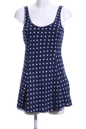 Abercrombie & Fitch Minikleid blau-weiß Punktemuster Casual-Look