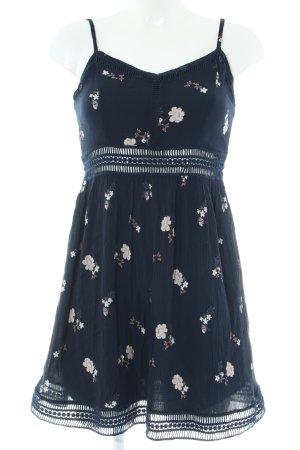 Abercrombie & Fitch Minikleid blau-wollweiß Blumenmuster Elegant