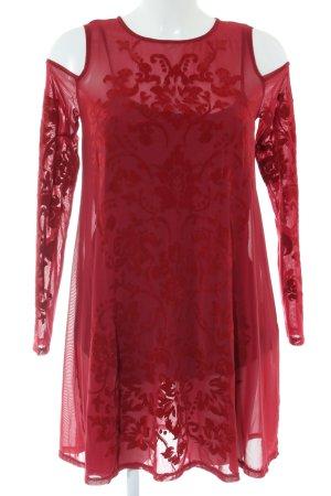 Abercrombie & Fitch Minikleid rot Blumenmuster Elegant