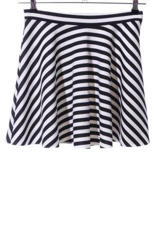 Abercrombie & Fitch Minirock weiß-schwarz Streifenmuster Casual-Look