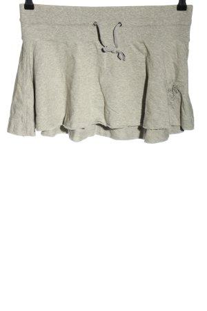 Abercrombie & Fitch Mini-jupe gris clair moucheté style décontracté