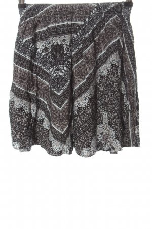 Abercrombie & Fitch Miniskirt light grey abstract pattern casual look