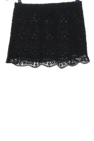 Abercrombie & Fitch Minirock schwarz Blumenmuster Casual-Look