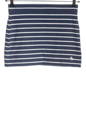 Abercrombie & Fitch Minirock blau-weiß Streifenmuster Casual-Look