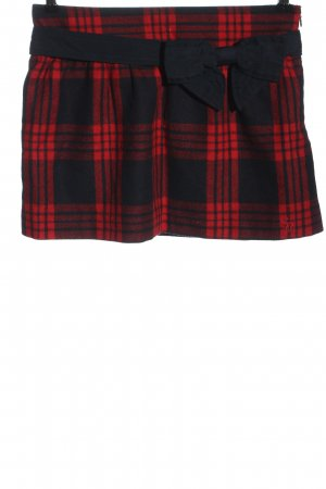 Abercrombie & Fitch Minirock schwarz-rot Karomuster Casual-Look
