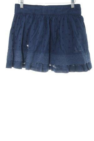 Abercrombie & Fitch Miniskirt blue spot pattern casual look