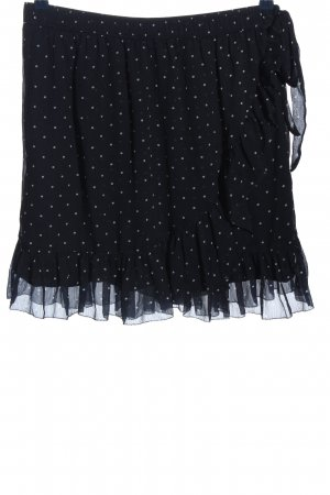 Abercrombie & Fitch Minirock schwarz-weiß Punktemuster Casual-Look