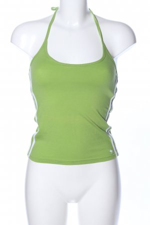 Abercrombie & Fitch Halter Top green striped pattern athletic style