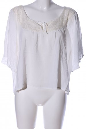 Abercrombie & Fitch Oversized Bluse weiß Casual-Look