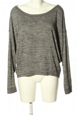 Abercrombie & Fitch Oversized Pullover hellgrau meliert Casual-Look