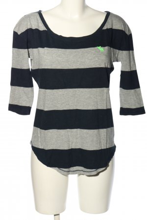 Abercrombie & Fitch Oversized Shirt hellgrau-schwarz meliert Casual-Look