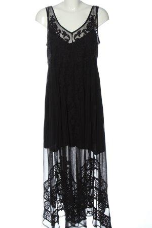 Abercrombie & Fitch Petticoatjurk zwart volledige print elegant