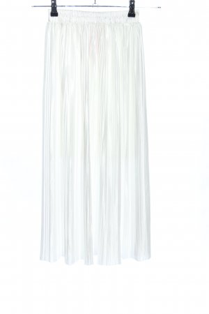 Abercrombie & Fitch Pleated Skirt white elegant
