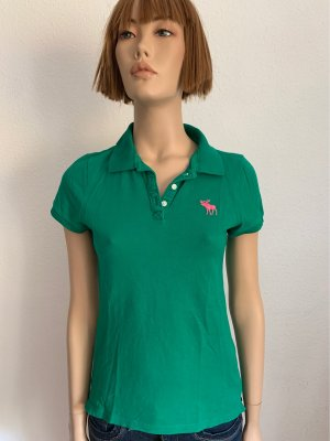 Abercrombie & Fitch Polo Top forest green-pink