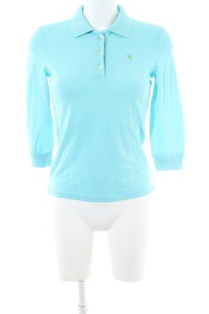 Abercrombie & Fitch Polo-Shirt türkis sportlicher Stil