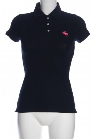 Abercrombie & Fitch Polo-Shirt blau-pink Casual-Look