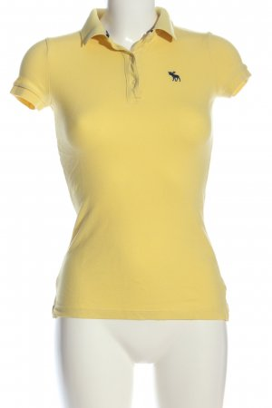 Abercrombie & Fitch Polo-Shirt blassgelb Casual-Look