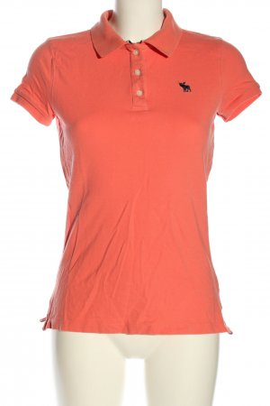 Abercrombie & Fitch Polo-Shirt hellorange Casual-Look