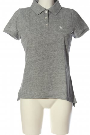 Abercrombie & Fitch Polo-Shirt hellgrau meliert Casual-Look