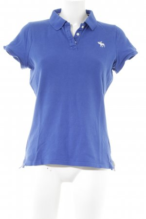 Abercrombie & Fitch Camiseta tipo polo azul look casual