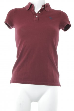 Abercrombie & Fitch Polo-Shirt karminrot Casual-Look