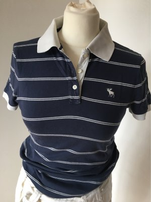 Abercrombie & Fitch Polo Shirt white-dark blue