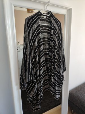Abercrombie & Fitch Poncho white-black