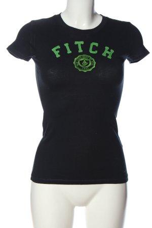 Abercrombie & Fitch Print-Shirt schwarz-grün Casual-Look