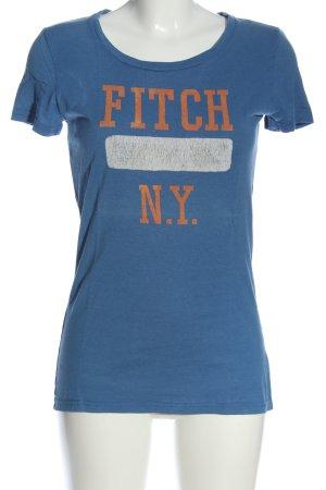 Abercrombie & Fitch Print-Shirt Schriftzug gedruckt Casual-Look