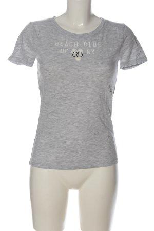 Abercrombie & Fitch Print-Shirt hellgrau meliert Casual-Look