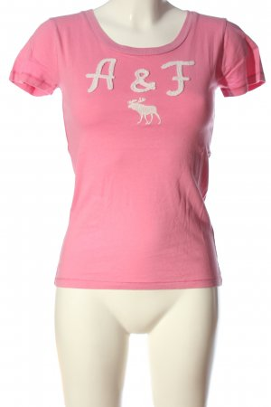 Abercrombie & Fitch Print-Shirt pink-weiß Casual-Look